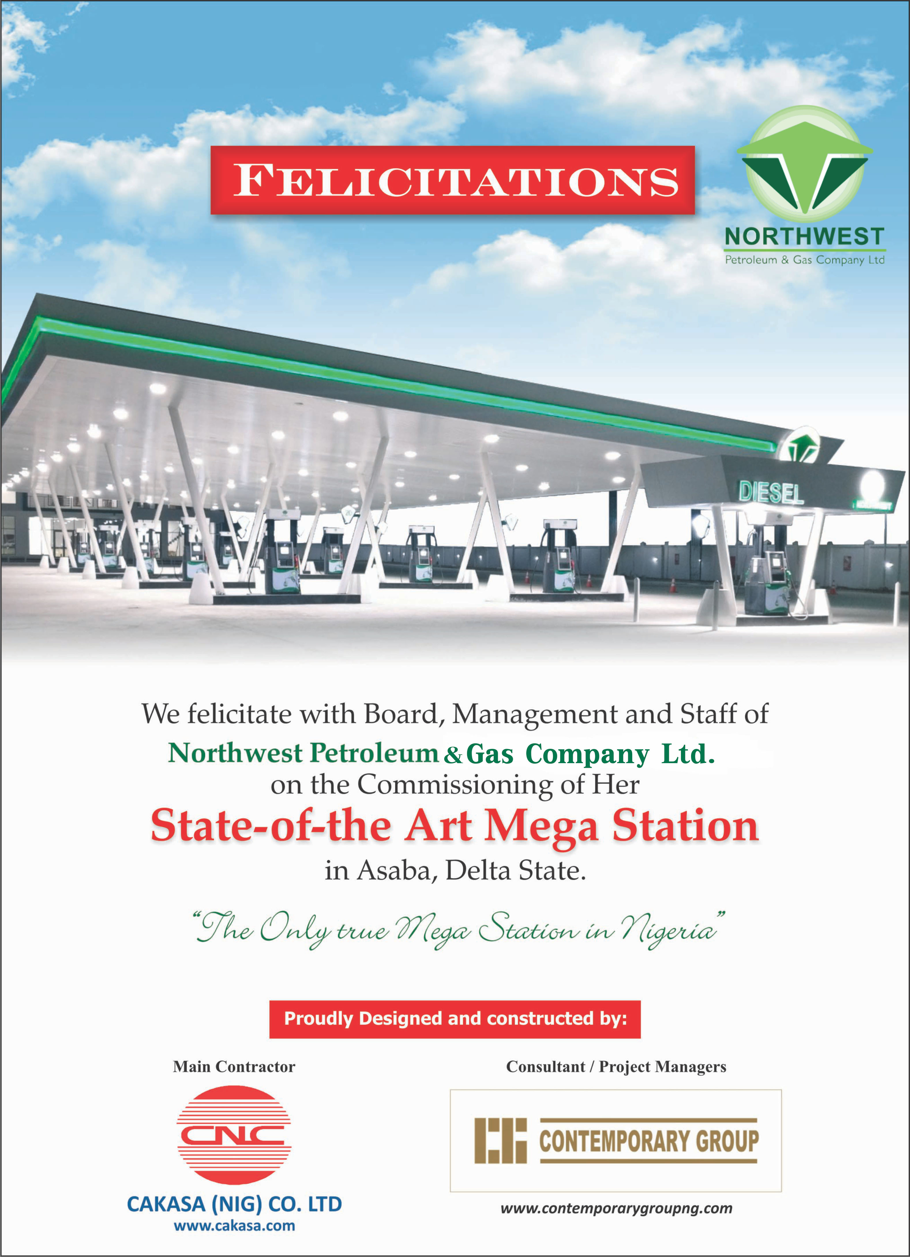 Commissioning of Northwest Petroleum Mega Station